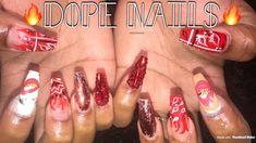 #bandananails #nails #acrylicnails #acrylics #yg #yg400 Bandana Nails, Red Bandana, Pretty Nail Art, Acrylic Nails, Acrylics, Nail Tutorials, Natural Looks, Color Trends, Summer Nails