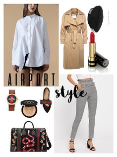 """Gucci boy meets woman"" by namboyeon ❤ liked on Polyvore featuring Gucci, gucci, airportstyle, bts and taehyung"