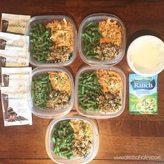 21 Day Fix Meal Prep- Buffalo Chicken - Week 3 - 2016 Weekly Lunch Meal Prep, Healthy Meal Prep, Healthy Snacks, Healthy Eating, 21 Day Fix Recipies, Diet Recipes, Healthy Recipes, Advocare Recipes, Diet Meals