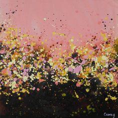 "Saatchi Art Artist Lisa Carney; Painting, ""Lover's Valley - GeoFlora Series"" #art"