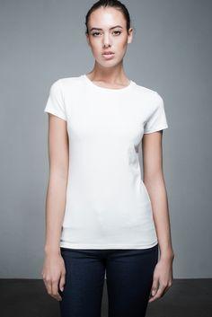 Beau High Neck T-shirt   People's Avenue  #highneck #tshirt #white #basic