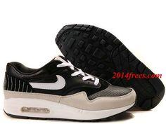 first rate 71962 eb1c3 Mens  Nike  Air  Max 1 Premium SP Black White Medium Grey Shoes