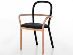 Wooden Chair with Armrests GENTLE by Porro Industria Mobili | Design Front