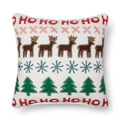 Sour Cream ReindeerTree Applique Toss Pillow Threshold™ : Target