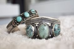 Turquoise and silver bracelets turquoise-jewelry