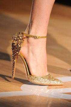 Gold shoes!