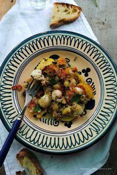 Pane, burro e alici: Seppioline e patate gratinate