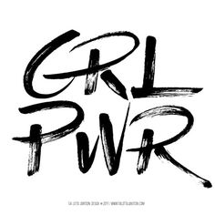 Girl Power Pretty Letters, Typography, Lettering, Girl Power, Feminism, Design, Frases, Letterpress, Calligraphy
