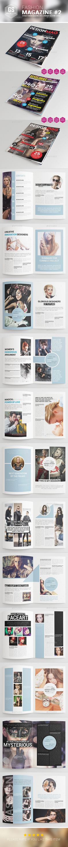 Fashion Magazine #2 — InDesign INDD #multipurpose #fashion • Available here → https://graphicriver.net/item/fashion-magazine-2/9276566?ref=pxcr