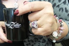 Great #TZJMUGSHOTS Tamara!  Beautiful ruby and diamond ring, Trollbeads bracelet, and Angelica bangle bracelets from Tracy Zeller Jewelry!