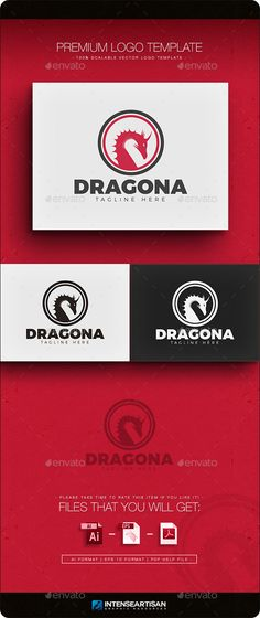 EPS Dragon Logo  Template • Only available here ➝ http://graphicriver.net/item/dragon-v3-logo/11769434?ref=pxcr