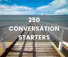 A world of conversation starters to choose from. Check out our list of 250 conve… A world of conversation starters to choose from. Check out our list of 250 conversation starters or choose a topic from out interesting conversation topics page. Crush Conversation Starters, Conversation Starter Questions, Conversation Starters For Couples, Topics To Talk About, Funny Text Conversations, Getting To Know Someone, Interesting Conversation, Interesting Topics, Funny Texts