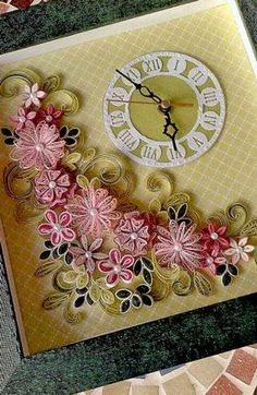 quilled clocks - Google Search