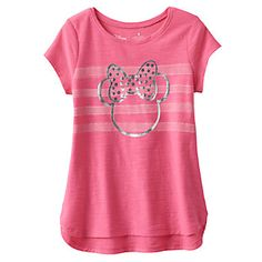 Disney's Minnie Mouse Girls 4-10 Foil Slubbed Tee by Jumping Beans®