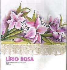 pintura em tecido flores lirios - Pesquisa Google