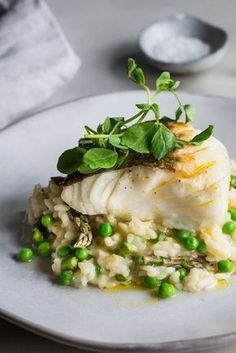 Cod And Asparagus Risotto Recipe.Lamb Loin Recipe With Parmesan Risotto Great British Chefs. Fish Dishes, Seafood Dishes, Seafood Recipes, Soup Recipes, Vegetarian Recipes, Cooking Recipes, Healthy Recipes, Casserole Recipes, Simple Recipes