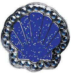 f915a3d45 Blue Sea Shell Glitz Ball Marker adorned with Crystals from Swarovski®-  with Hat Clip