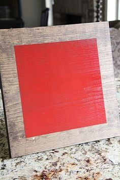 Painted Wood Canvas
