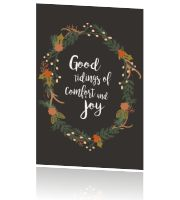 Kerstkaart Good tidings of comfort and joy