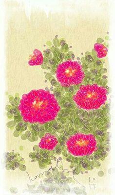 Hanatist  : Beloved flower stories by wonkiest #Illustrate #Drawing #digitalpainting #flower #art #nature https://www.facebook.com/Hanatist/