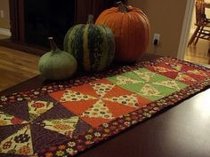 Fall Table Runner Tutorial - but could do Spring or Christmas fabric too.