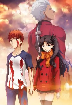 Fate Stay Night Series, Fate Stay Night Anime, Best Action Anime, Fate Archer, One Punch Anime, Fate/stay Night, Tohsaka Rin, Night Illustration, Shirou Emiya
