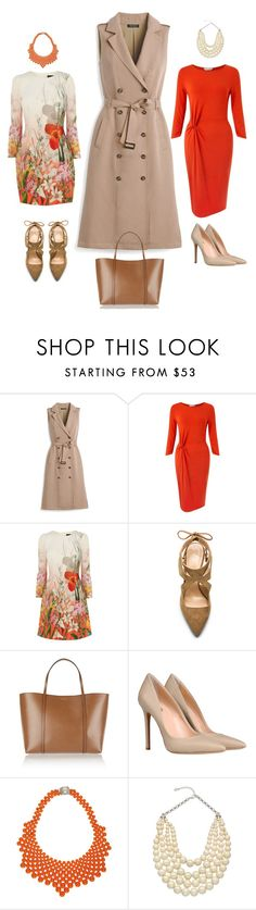 """""""Spring Coats"""" by dgsimagery on Polyvore featuring White House Black Market, Miss Selfridge, Raye, Dolce&Gabbana, 8, Del Duca, Carolee, trenchcoat, womenswear and imagery"""