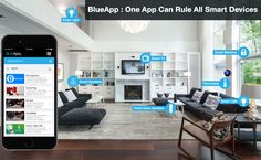 BlueApp is a smart app for all connected devices, because Blueapp home automation system and associated software and hardware aim to simplify all connected devices in your environment