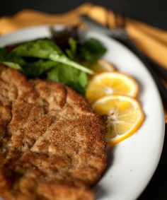 Classic wiener schnitzel, from Hunter Angler Gardener Cook. Veal is traditional, but it works with chicken, pork, pheasant, turkey, you name it.  via @huntgathercook