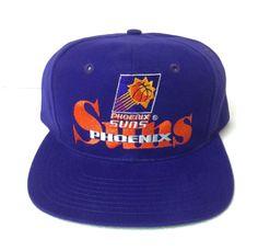 best website c4c1b bc05e LIMITED ED Rare Vtg PHOENIX SUNS SNAPBACK HAT 90s Purple The Game Cap  Men Women
