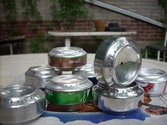 alcohol stove out of a soda can