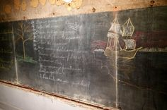 Perfectly preserved 100-year-old high school blackboards discovered in Oklahoma City #chalkboard