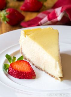 Slow Cooker Cheesecake - The easiest way to make a perfect tender no-crack cheesecake is in the crockpot. Honestly, you cannot mess this up!