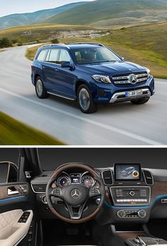 """The GL becomes the GLS. This Mercedes-Benz is setting standards in the world of the SUV as it confirms its position as the """"S-Class among SUVs. Mercedes Benz Gl Class, Mercedes Benz Suv, Mercedes G Wagon, New Mercedes, M Benz, Best Family Cars, Best Suv, Daimler Benz, Luxury Suv"""