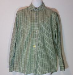Cutter & Buck Signature Collection Medium Lime Green Shirt 100% Cotton Nice #CutterBuck