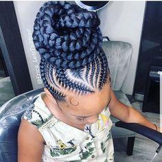 Criss-Cross Goddess Braids - 70 Best Black Braided Hairstyles That Turn Heads in 2019 - The Trending Hairstyle Black Hair Updo Hairstyles, Braids Hairstyles Pictures, Braided Hairstyles For Black Women, Braided Ponytail Hairstyles, African Braids Hairstyles, Weave Hairstyles, Feed In Braids Ponytail, Hairstyles Games, 5 Braid