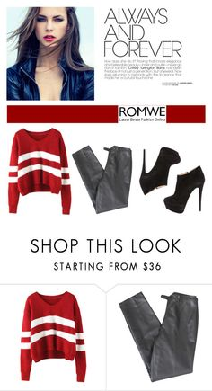 """""""romwe"""" by escalade1 ❤ liked on Polyvore featuring Lafayette 148 New York, Giuseppe Zanotti, women's clothing, women's fashion, women, female, woman, misses and juniors"""