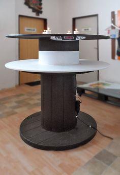 Zajímavé stolky mohou vzniknout také z dřevěné či překližkové cívky ; PALETY ON LINE
