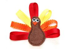 Turkey hair clips for Thanksgiving!