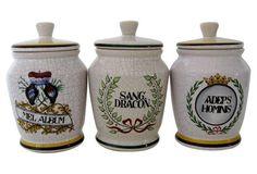 German Faience Jars, Set of 3