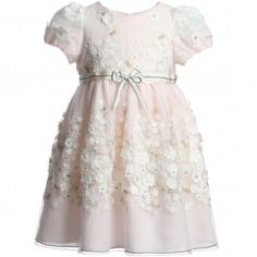 I Pinco Pallino Pink Tulle Embroidered Dress  at Childrensalon.com