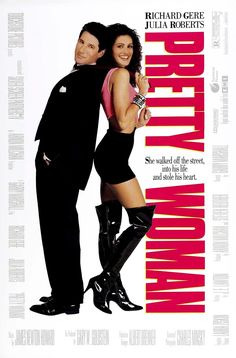 Pretty Woman, This romantic comedy Cinderella tale stars Julia Roberts and Richard Gere. This is the film that made Julia Roberts a star. Richard Gere, See Movie, Movie Tv, 80s Movie Posters, Classic Movie Posters, Pretty Woman Film, Pretty Movie, Women Poster, Bon Film