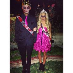 Halloween dead prom queen and king make up