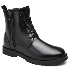 Pu Leather Solid Combat Boots for Mens,Cheap Trendy on Sale!