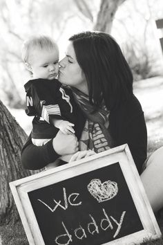 Father's Day picture with chalk board - David Dang Photography