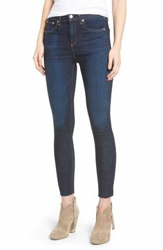 Main Image - rag & bone/JEAN High Waist Skinny Ankle Jeans (Mad River)