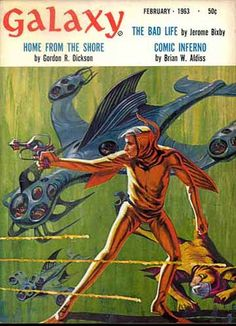 JACK GAUGHAN - Home From the Shore by Gordon R. Dickson - Feb 1963 Galaxy Science Fiction
