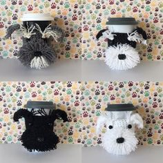If you are a dog lover and also love to crochet, this crochet pattern dog will allow you to recreate this adorable Schnauzer mug cozy! You do not need to be an experienced crocheter, I include lots of pictures and Angels Tips to make this an easy and fun project to do! It is easy to customize as well, simply choose your yarn colors accordingly! The cozy slides up your travel mug for a snug fit around the middle. It will stretch to fit most cup sizes. The cozy also looks adorable on water…