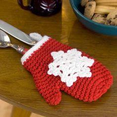 Crochet Mitten Ornament