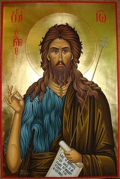 Orthodox Catholic, Catholic Saints, Religious Icons, Religious Art, Greek Icons, Paint Icon, Byzantine Icons, John The Baptist, Orthodox Icons